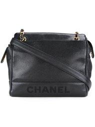 сумка с вышитым логотипом Chanel Vintage