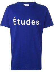 футболка с принтом логотипа Études