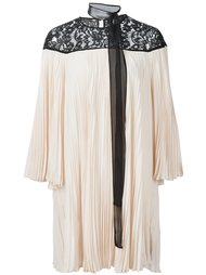 плиссированное платье с кружевными вставками Rachel Zoe