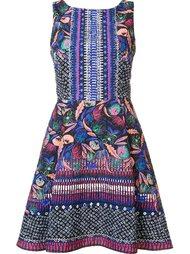 жаккардовое платье с цветочным узором Saloni