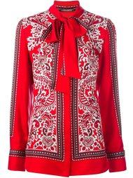 блузка с принтом пейсли Alexander McQueen