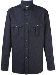 рубашка с накладными карманами  Brioni