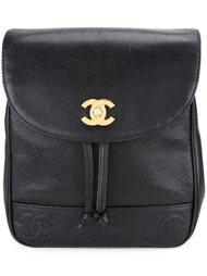 рюкзак с тиснеными логотипами Chanel Vintage