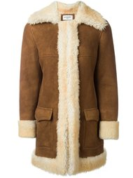 пальто из овчины Saint Laurent