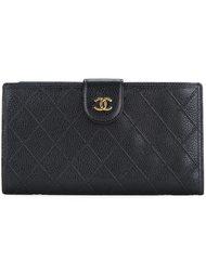 кошелек с декоративной строчкой Chanel Vintage