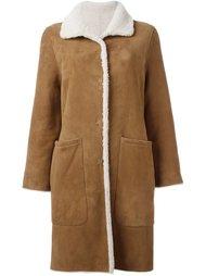 пальто из овчины Yves Salomon