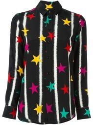 рубашка 'Paris' с принтом звезд  Saint Laurent