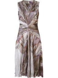плиссированное платье без рукавов Ralph Lauren Black