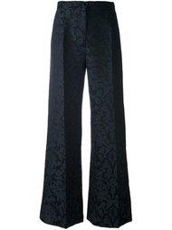 жаккардовые прямые брюки Erika Cavallini