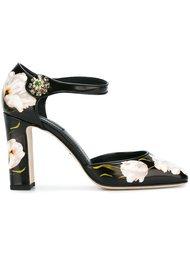 туфли с принтом тюльпанов Dolce & Gabbana