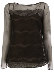 многослойная блузка Oscar de la Renta
