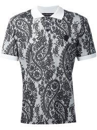 футболка-поло с рисунком Alexander McQueen
