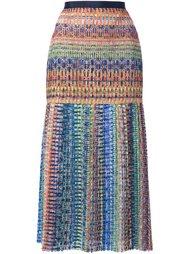 тканая юбка длины миди Saloni