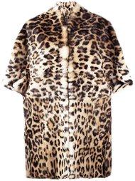 норковое пальто с животным принтом Plein Sud
