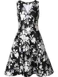 расклешенное платье с цветочным рисунком Oscar de la Renta