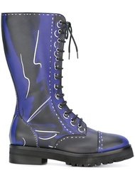 ботинки на шнуровке  Moschino