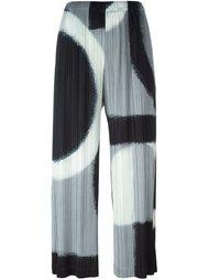 брюки с абстрактным принтом  Pleats Please By Issey Miyake