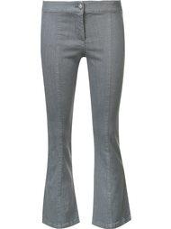 укороченные расклешенные джинсы Veronica Beard