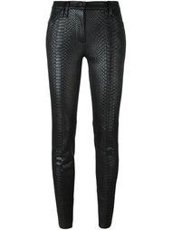 брюки 'Python' с эффектом змеиной кожи Plein Sud