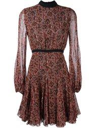 платье с абстрактным принтом   Giambattista Valli