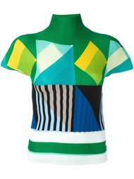 geometric pattern knitted top Issey Miyake Cauliflower