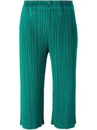 light flare cropped trousers Pleats Please By Issey Miyake