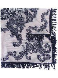 шарф с принтом Hemisphere