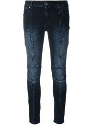 джинсы скинни с отделкой в рубчик Pierre Balmain