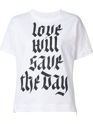 футболка с принтом Sacai