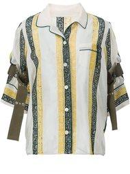 блузка с вышивкой в форме букв Sacai