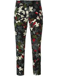 брюки 'Perfect' с цветочным узором Dondup