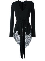блузка с кружевным подолом Givenchy