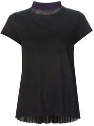 футболка с плиссированной вставкой Sacai