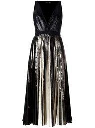 плиссирвоанное платье с эффектом металлик Proenza Schouler