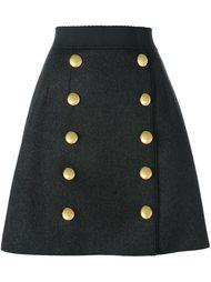 юбка с декоративными пуговицами Dolce & Gabbana