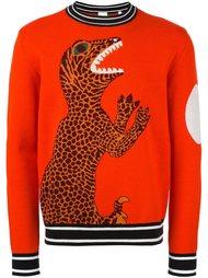 свитер с динозавром Paul Smith