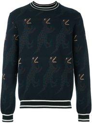 свитер с изображением динозавров  Paul Smith