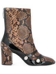 ботинки с эффектом змеиной кожи Nº21