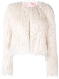 короткое пальто из искусственного меха Giamba