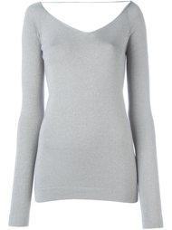 свитер с эффектом металлик Brunello Cucinelli