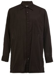 рубашка с разрезом  Yohji Yamamoto
