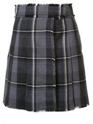 клетчатая юбка с запахом Thom Browne
