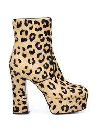 ботинки с леопардовым принтом  'Candy 80'  Saint Laurent