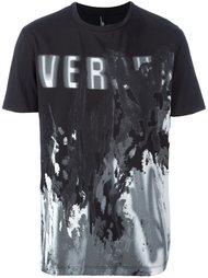 футболка с принтом логотипа   Versus
