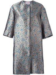 пальто с цветочной вышивкой Lanvin