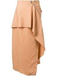асимметричная юбка с драпировкой Kitx