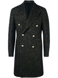 двубортное твидовое пальто Tagliatore