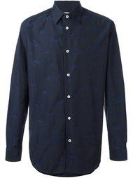 рубашка с принтом-логотипом на пуговицах Vivienne Westwood Man
