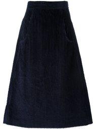 вельветовая юбка А-образного силуэта Cacharel