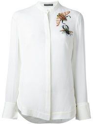 рубашка с декорированными насекомыми  Alexander McQueen